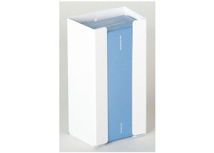 "Powder Coated Metal Single Glove Dispenser White 5-3/4"" Width Holds 1 Box"