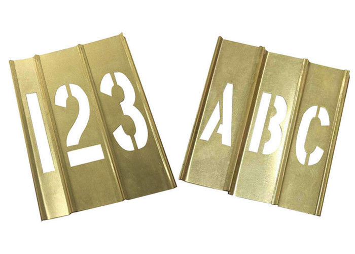 Spray Painting Metal Letter Stencils Rectangle Shape Brass