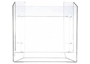PETG Horizontal Clear Glove Dispenser Holder 2 Boxes Wall Mounted Type