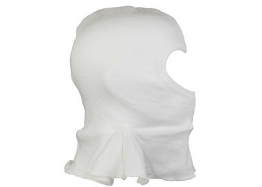 Cotton White Balaclava Face Cover , Sedex Audit Wrinkle Free Full Face Balaclava