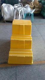 Plastic Safety Step Stool Polyethylene Yellow Three-steps Durable Lightweight